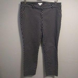 Kenar Navy Printed Capri Pants
